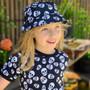 Six Bunnies Polka Skulls Bucket Hat