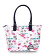 Six Bunnies Flamingo Nappy Bag or Tote Bag