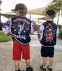 Six Bunnies Tattoo Kids Varsity Jacket