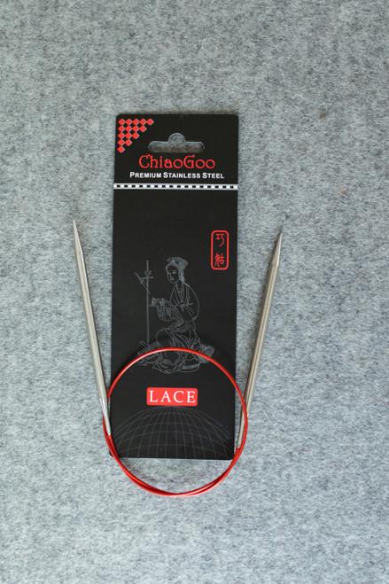 "ChiaoGoo SS Red Lace Circular 24"""