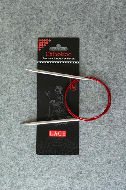 "ChiaoGoo SS Red Lace Circular 32"""