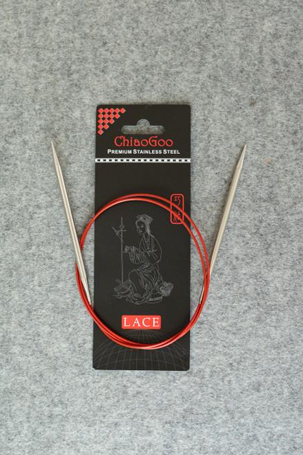 "ChiaoGoo SS Red Lace Circular 40"""