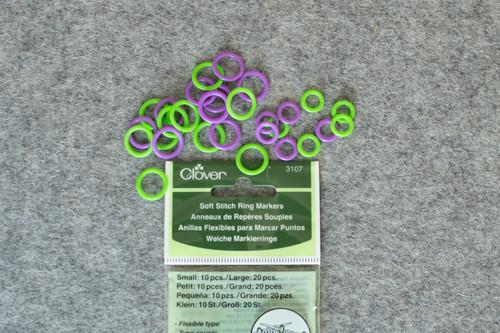 Clover Soft Ring Stitch Marker