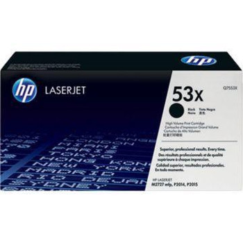 Genuine HP Brand 53X Q7553X Black High-Yield LaserJet Toner Cartridge