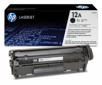 Genuine HP Brand 12A Q2612A Black Toner Cartridge
