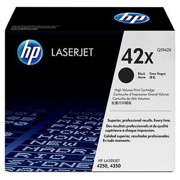 Genuine HP Brand 42X Q5942X Black High-Yield Toner Cartridge