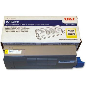 Genuine OKI Brand  C710, C711 44318601 Toner Cartridge Yellow
