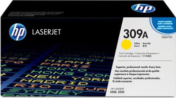 Genuine HP Brand 309A Q2672A Yellow Toner Cartridge