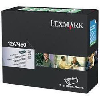 Genuine Lexmark Brand 12A7460 Black Toner Cartridge