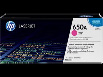 Original HP Brand 650A CE273A Magenta LaserJet Toner Cartridge