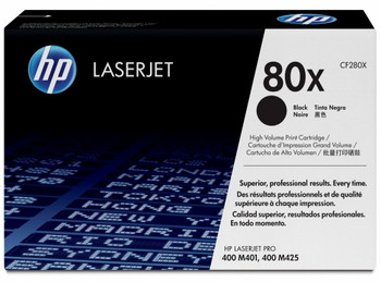 Genuine HP Brand 80X CF280X Black High-Yield Toner Cartridge (CF280X)