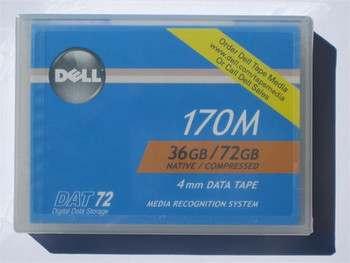 Dell 0W3552 - DAT 72, 4mm Data Cartridge Tape, DDS-5, 170m, 36/72GB