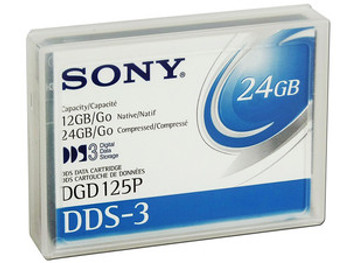 SONY DGD125P 4mm DDS3 DDS-3 12GB / 24GB 125 Meter Data Tape Cartridge