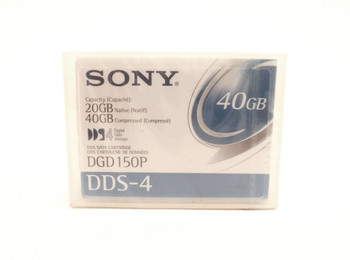 Sony 4mm DDS-4 150M 20GB/40GB Data Tape Cartridge - DGD150P