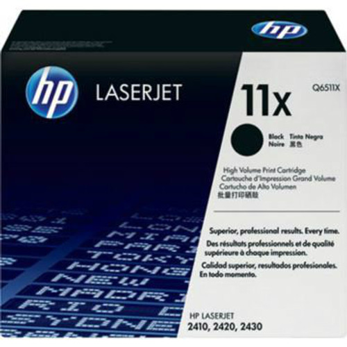 HP Brand 11X Q6511X Black High Yield Toner Cartridge
