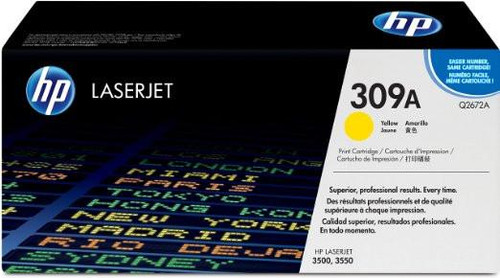 Genuine HP Brand 309A Q2672A Yellow Toner Cartridge