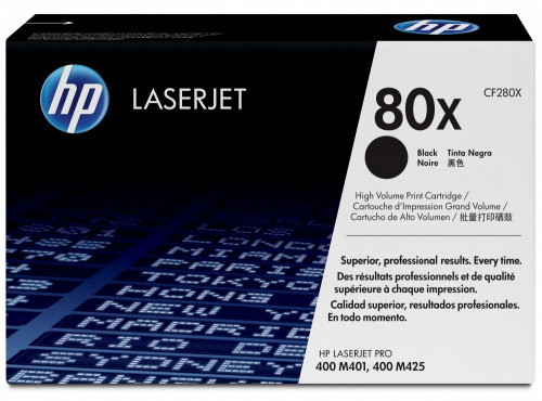 Genuine HP Brand 80X CF280X Black High-Yield Toner Cartridge (CF280X)