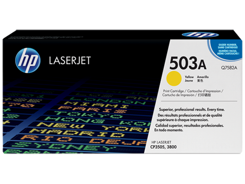 HP Brand 503A Q7582A Yellow Toner Cartridge
