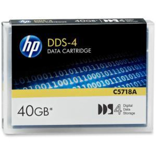 HP C5718A DAT 4MM DDS-4 20GB / 40GB Data Cartridge