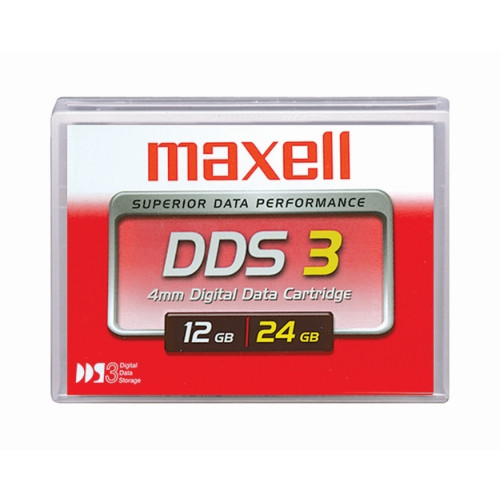 Maxell 4mm DDS-3 125M 12GB/24GB Data Tape Cartridge - 200025