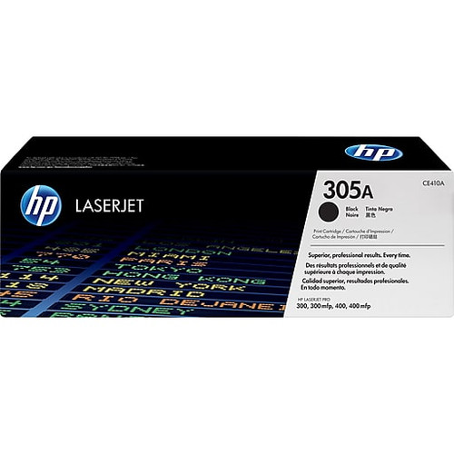 HP Brand 305A CE410A Black LaserJet Toner Cartridge (CE410A)