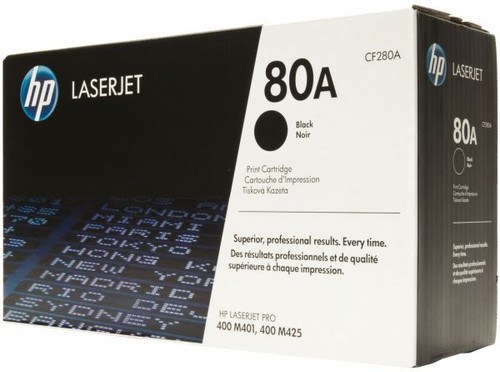 Genuine HP 80A CF280A Black LaserJet Toner Cartridge