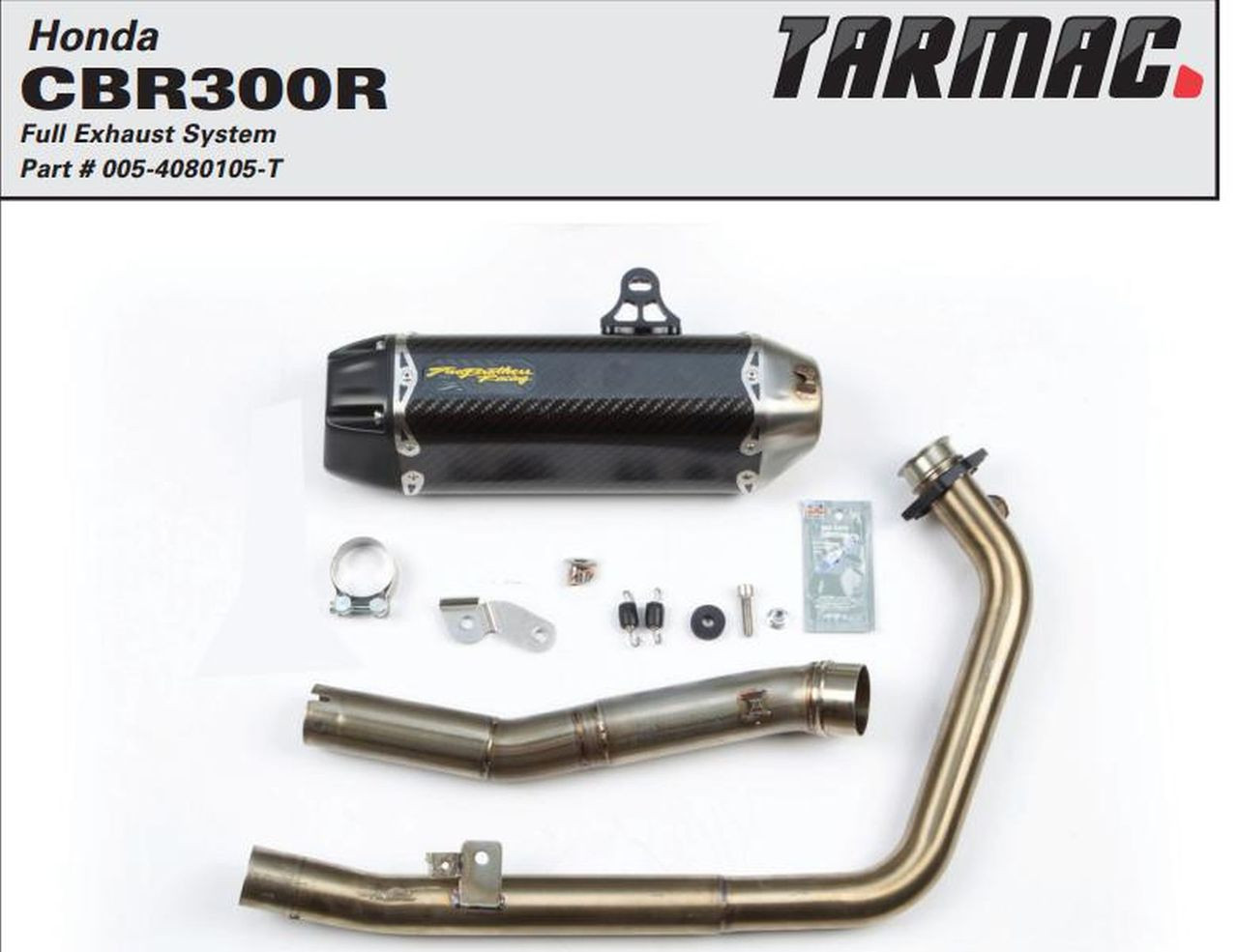 Carbon Fiber Two Brothers Racing 005-4020105-T Tarmac Full System Exhaust