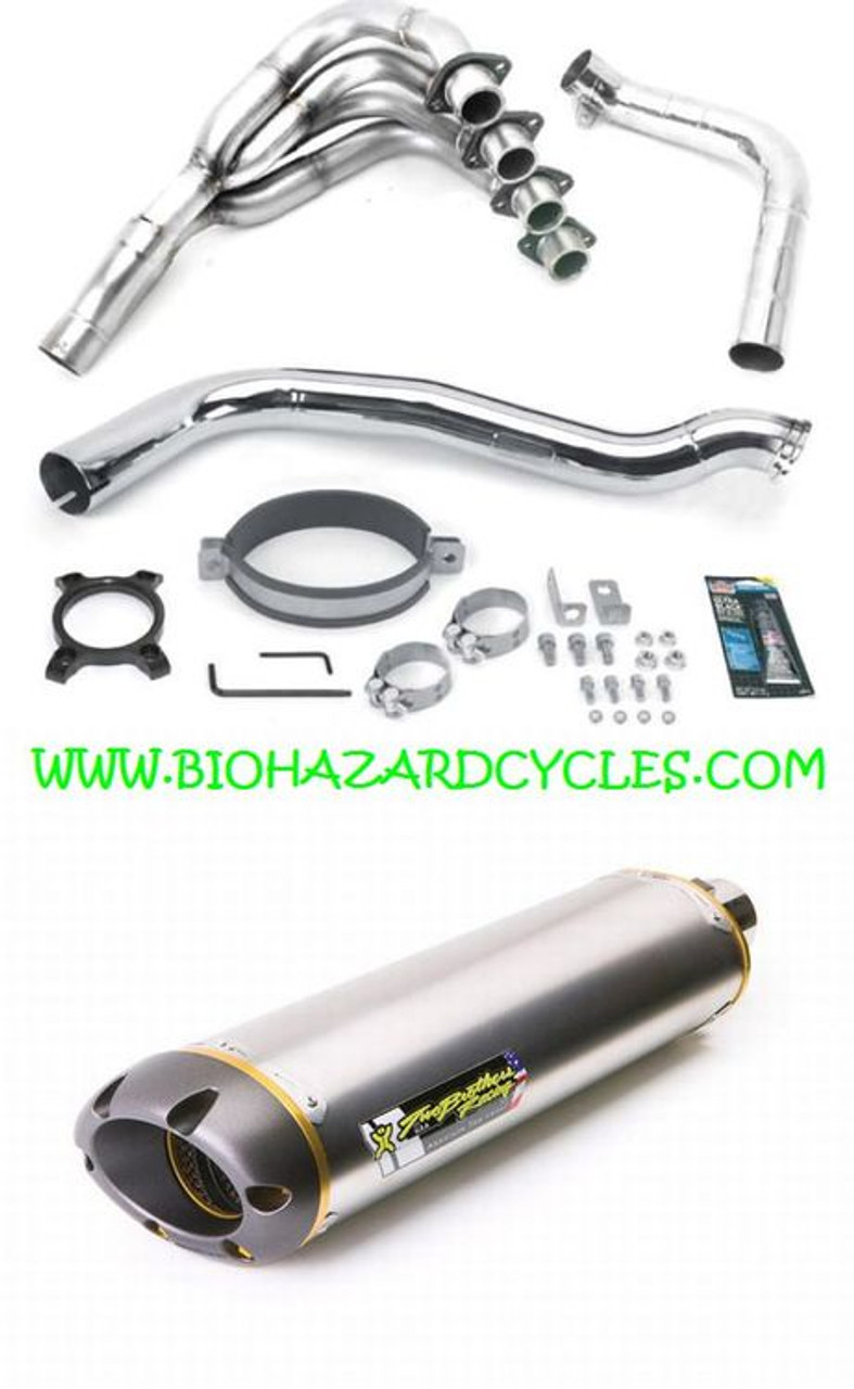 Two Brothers Racing Black Series M-2 Aluminum Canister Full Exhaust System 005-3170106V-B