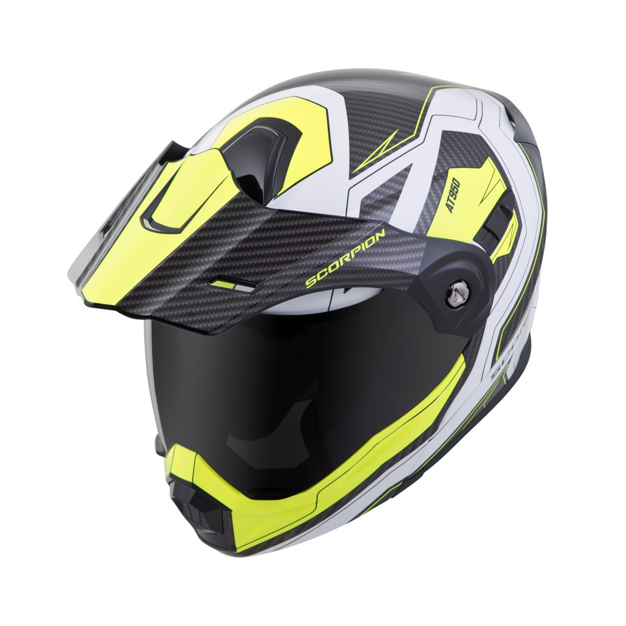 2b028d78 SCORPION EXO-AT950 Hi-Viz Yellow TUCSON HELMET ALL SIZES 95-0605