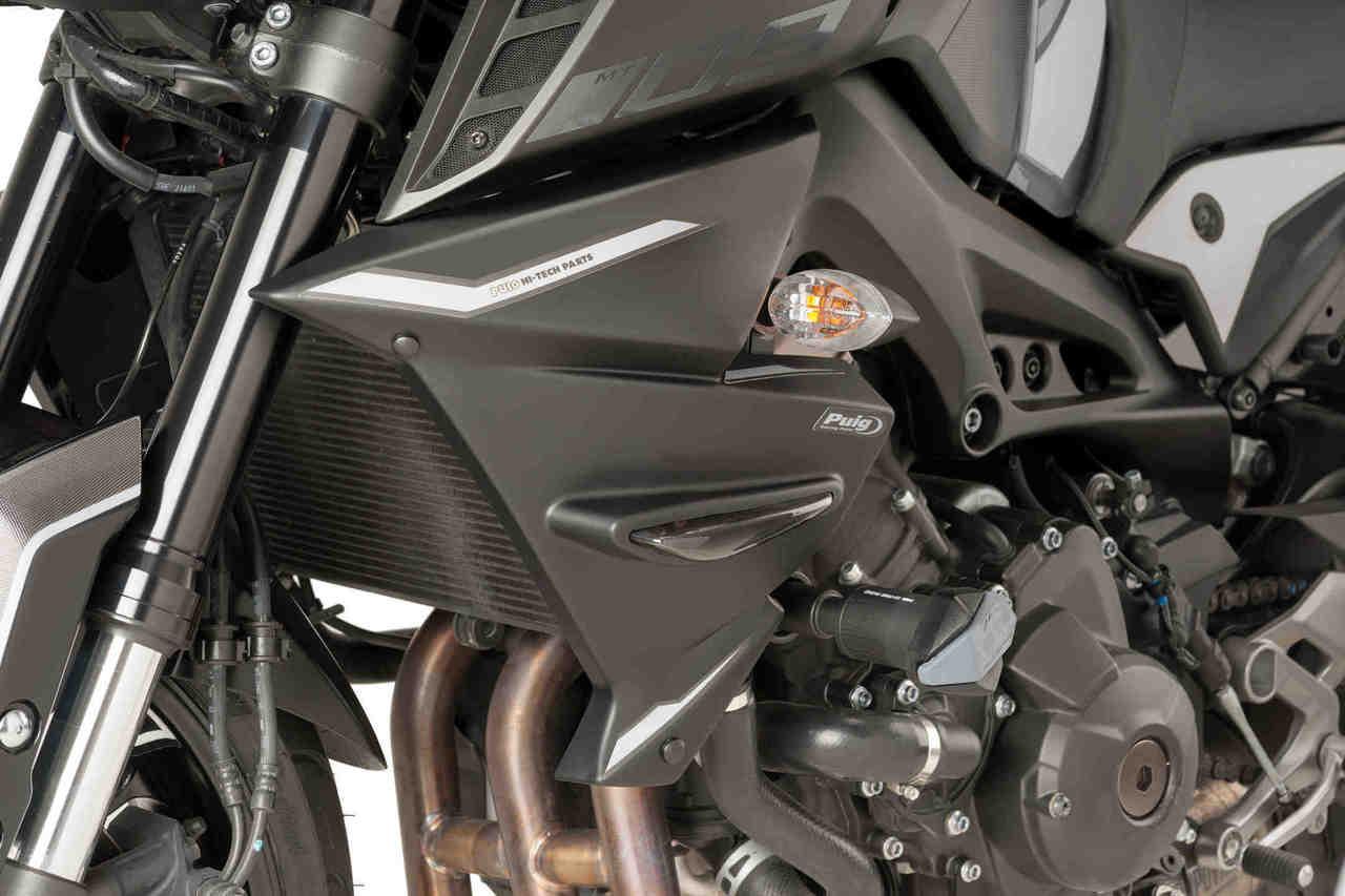 Puig 7227F Dark Smoke Engine Spoiler Yamaha Fz-09 13-17// Fj-09 15-17-Akrapovic