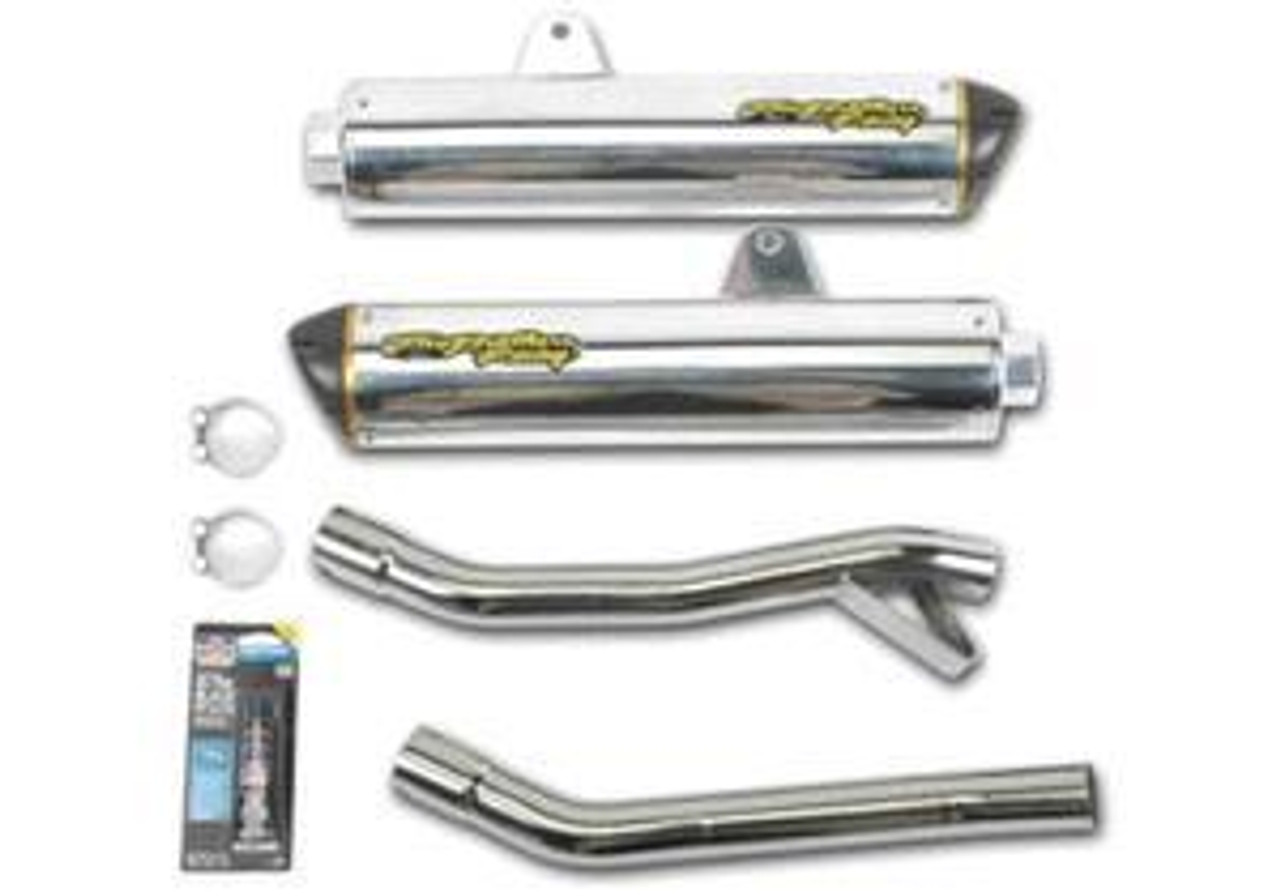 Two Brothers Dual Exhaust Ex250 Ex 250 Ninja 88 07 Kawasaki 1988 2007 Aluminum Slip On 005 1590406d