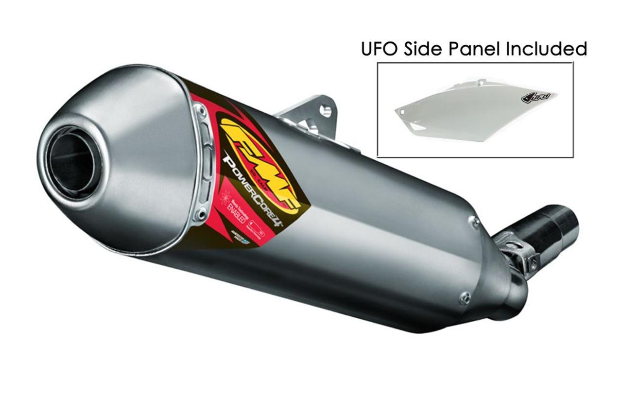 Material FMF Racing PowerCore 4 Spark Arrestor Slip-On Aluminum 045033