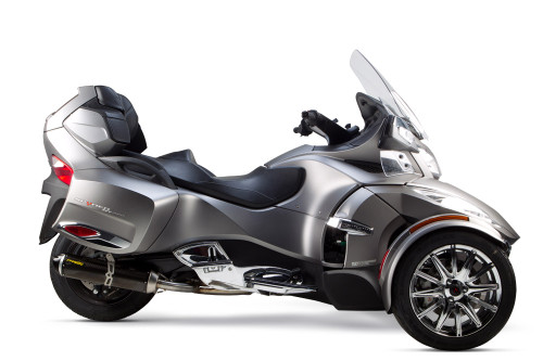 TWO BROTHERS RACING 2 BROS 005-3930405-S1 SLIP ON SO EXHAUST SYSTEM S1-R S1R CARBON FIBER CF MUFFLER   CAN-AM SPYDER RT 14 15 2014 2015
