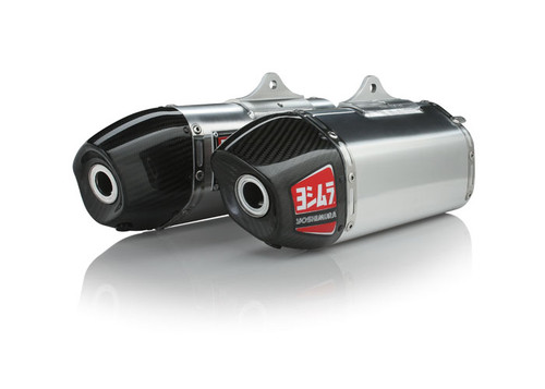 YOSHIMURA 225822H320 SLIP ON SO EXHAUST SYSTEM   RS-9 RS9 STAINLESS MUFFLER W CARBON CF END CAP   SS MID / LINK PIPE   HONDA CRF450R CRF450 CRF 450 450R  2015 15 16 2016