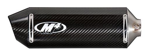 M4 HO5024 FULL RACE EXHUAST SYSTEM  CARBON FIBER CF RACE MOUNT MUFFLER  STAINLESS HEADER / MID LINK PIPE  HONDA CBR500R CBR500 CBR 500 500R  13 14 15 2013 2014 2015