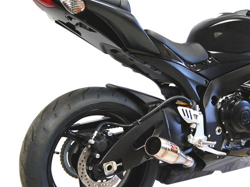 COMPETITION COMP WERKES WS757-S GP STYLE SLIP ON SO EXHAUST HAND WELDED STAINLESS STEEL SS GP STYLE MUFFLER STREET MODEL WITH BAFFLE SUZUKI GSXR600 GSXR750 GSX-R600 GSX-R750 GSXR-600 GSXR-750 GSXR 600 750 08 09 10 2008 2009 2010