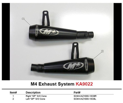 M4 KA9022-GP MOTO GP DUAL SLIP ON SO EXHAUST SYSTEM BLACK GP STYLE MUFFLERS FOR BOTH LEFT AND RIGHT SIDE KAWASAKI NINJA 1000 Z1000 Z1000SX  10 11 12 2010 2011 2012 13 2013 14 15 16 2014 2015 2016