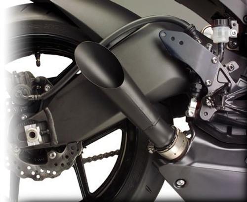 HOTBODIES BLACK GP MEGAPHONE SLIP ON EXHAUST ZX10R 08 09