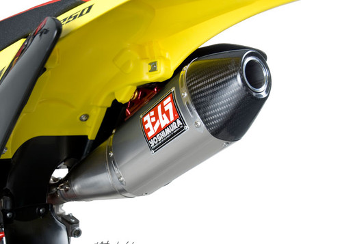 218377YOSHIMURA 2183177 COMPLETE FULL EXHAUST SYSTEM RS4 RS-4 TITANIUM TI MUFFLER WITH CARBON FIBER END CAP  AMA PRO DB KILLER INCLUDED TITANIUM HEADER / COLLECTOR AND LINK / MID PIPE SUZUKI RM-Z250 RMZ250 RMZ 250  RM Z250 10 11 12 13 14 15 16 2010 2011 2012 2013 2014 2015 2016