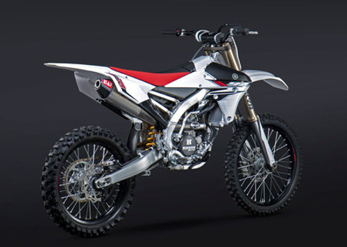 YOSHIMURA 231012D320 SLIP ON SO EXHAUST SYSTEM RS-4 RS4 ALUMINUM AL MUFFLER WITH CARBON CF END CAP  STAINLESS SS  MID / LINK PIPE YAMAHA YZ250F YZ-250F YZ 250F YZ250  250 2014 14 2015 15 2016 16
