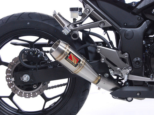 COMPETITION COMP WERKES WK300-S SLIP ON SO EXHAUST HAND WELDED STAINLESS STEEL SS GP STYLE MUFFLER KAWASAKI NINJA 300R 300 EX300 EX EX300R 2013 13 2014 14 2015 15