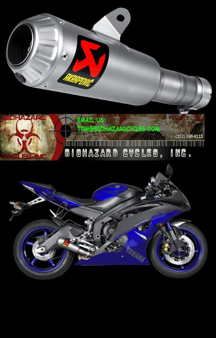 AKRAPOVIC S-Y6SO10-AHBT TITANIUM TI GP SLIP ON SO EXHAUST SYSTEM MUFFLER  YAMAHA YZFR6 YZF-R6 YZF R6 600 06 07 08 09 10 11 12 13 14 15 2006-2016