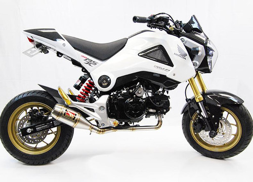 COMPETITION COMP WERKES WH125 COMPLETE FULL EXHAUST SYSTEM   HAND WELEDED STAINLESS STEEL SS HEAD PIPE AND MUFFLER   MSX 125 GROM HONDA 12 13 14 15 2012 2013 2014 2015 16 2016
