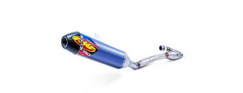 FMF 042336 4.1 RCT BLUE FULL EXHAUST SYSTEM CARBON KX450F 16-18