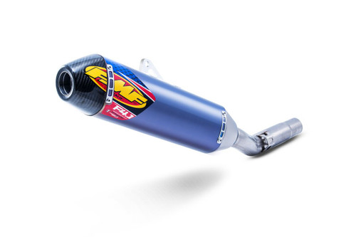 FMF 042333 FACTORY 4.1 RCT SL SLIP-ON SLIP ON SO EXHAUST SYSTEM   BLUE ANODIZED TITANIUM TI MUFFLER W CARBON FIBER CF END CAP  TITANIUM LINK / MID PIPE   KAWASAKI KX450F KX-450F KX 450 450F   2016 16 17 2017