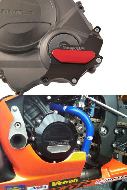 WOODCRAFT RACING CASE COVER / SAVER KIT BOTH SIDES CBR600RR 07-15  60-0338LB LHS Stator Cover Black (use semi-dry liquid gasket)  60-0338RB  RHS Clutch Cover Protector Assembly Black