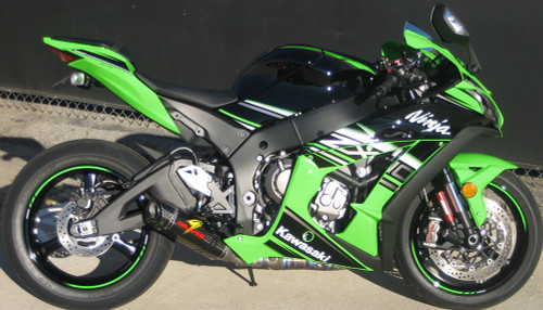 GRAVES EXK-16ZX1-CETCL 3/4 SLIP ON SLIPON SO EXHAUST SYSTEM  DIAMOND CARBON FIBER CF MUFFLER & STRAP  TITANIUM TI LINK / MID PIPE DELETE CAT CATALYZER ELIMINATOR  KAWASAKI ZX10R ZX-10R ZX10 ZX-10 ZX 10 10R 1000   2016 16