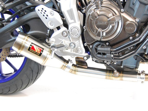 COMPETITION WERKES WY700  SLIP ON SLIP-ON SO EXHAUST  HAND WELEDED STAINLESS GP SHORTY MUFFLER & MID PIPE  YAMAHA FZ-07 FZ07 FZ7 FZ700 FZ 700 7 07  15 16 2015 2016