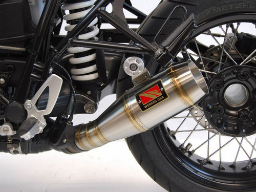 COMPETITION / COMP WERKES WB1200 SLIP-ON SLIP ON SO EXHAUST SYSTEM  HAND WELDED STAINLESS GP SHORTY MUFFLER  BMW RNINET R90 R-NINE-T R9T R NINE T   14 15 16 2014 2015 2016