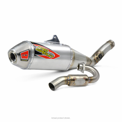 STAINLESS FULL EXHAUST SYSTEM  ALUMINUM AL MUFFLER  STAINLESS HEADER / COLLECTOR & MID / LINK PIPE  SUZUKI RMZ-250 RMZ 250 RM-Z250 RM Z250 16 2016